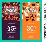 halloween sale banner... | Shutterstock . vector #1102180676
