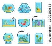illustrations set of different... | Shutterstock . vector #1102180688