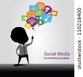 social media bulb | Shutterstock .eps vector #110218400