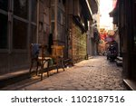 old samll street in khan el... | Shutterstock . vector #1102187516