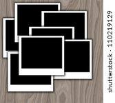 photo frame on wood | Shutterstock . vector #110219129