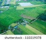 bird eye view of rice field in...