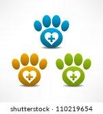 veterinary clinic symbol.... | Shutterstock .eps vector #110219654