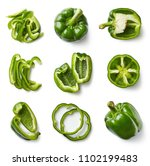set of fresh whole and sliced... | Shutterstock . vector #1102199483
