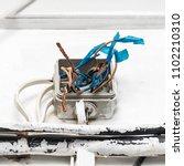 hazard electrical wiring.... | Shutterstock . vector #1102210310