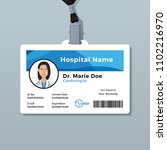 doctor id card. medical... | Shutterstock .eps vector #1102216970
