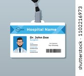 doctor id card template.... | Shutterstock .eps vector #1102216973