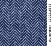 folk herringbone indigo dyed... | Shutterstock . vector #1102218893