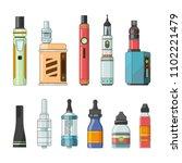 e cigarettes and different...   Shutterstock . vector #1102221479