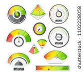 different speed indicators.... | Shutterstock . vector #1102228058