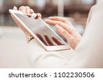 woman outdoors walking on a...   Shutterstock . vector #1102230506