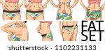 set women with fat belly. the... | Shutterstock .eps vector #1102231133