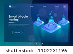 cryptocurrency and blockchain... | Shutterstock .eps vector #1102231196