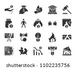 bankruptcy silhouette icons set.... | Shutterstock .eps vector #1102235756