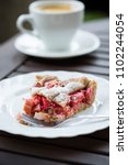 Small photo of Healthy rhubarb tarte made of whole wheat flour.