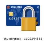 bank or credit card with pad... | Shutterstock .eps vector #1102244558