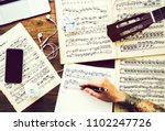 man writing down notes for a...   Shutterstock . vector #1102247726