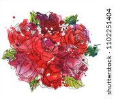 vintage vector floral... | Shutterstock .eps vector #1102251404
