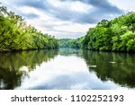 Chattahoochee River and Trees on a cloudy day