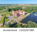 mir castle complex. flying... | Shutterstock . vector #1102267280