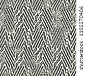 monochrome psychedelic striped... | Shutterstock . vector #1102270406