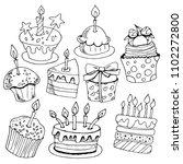 set of sketches baking ... | Shutterstock .eps vector #1102272800