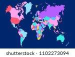 color world map vector | Shutterstock .eps vector #1102273094