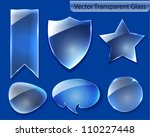 collection of transparent glass ... | Shutterstock .eps vector #110227448