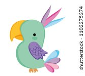 nice parrot bird wild animal | Shutterstock .eps vector #1102275374
