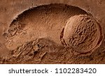 scooped chocolate ice cream or... | Shutterstock . vector #1102283420