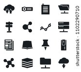 set of simple vector isolated...   Shutterstock .eps vector #1102290710