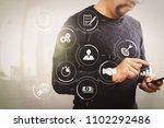business process management... | Shutterstock . vector #1102292486