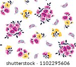 daisies colorful flowers ... | Shutterstock .eps vector #1102295606