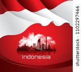 vector red color flat design ... | Shutterstock .eps vector #1102297466