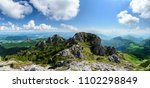 the great rozsutec hill in the... | Shutterstock . vector #1102298849