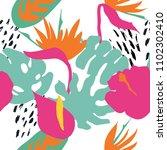 minimal summer trendy vector... | Shutterstock .eps vector #1102302410