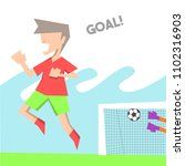 soccer players celebrate after... | Shutterstock .eps vector #1102316903