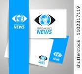 breaking news live conceptual... | Shutterstock .eps vector #1102317119