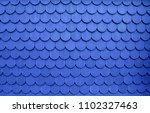 blue tile roof. clay roof... | Shutterstock . vector #1102327463