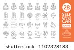self drive car line icon set.... | Shutterstock .eps vector #1102328183