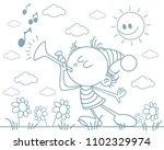 vector illustration of a fairy... | Shutterstock .eps vector #1102329974