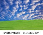 garden grass with beautiful sky. | Shutterstock . vector #1102332524