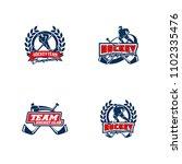 set of professional hockey... | Shutterstock .eps vector #1102335476