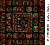 ethnic stylized handmade...   Shutterstock .eps vector #1102340333
