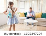 happy father's day. cute... | Shutterstock . vector #1102347209