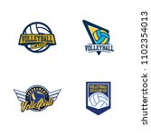 set of volleyball badge design...   Shutterstock .eps vector #1102354013