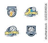 set of volleyball badge design...   Shutterstock .eps vector #1102354016
