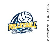 volleyball badge design logo... | Shutterstock .eps vector #1102354109