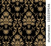 ikat ogee and damascus ornament ... | Shutterstock .eps vector #1102359146