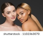 mixed races women beauty... | Shutterstock . vector #1102363070
